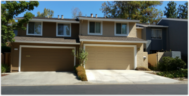 Does the exterior of a townhouse need to be inspected? View of townhomes in west Los Gatos.