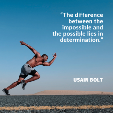 Quote on being motivated and determined